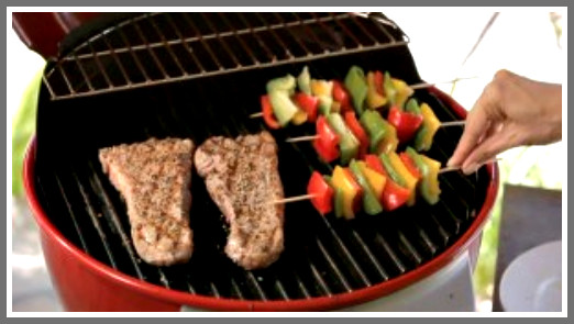 women and grilling