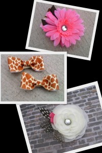 Gentry's Closet, Collage of Hair Accessories for Baby Girls