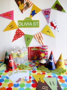 Sesame Street Party Planning Kit