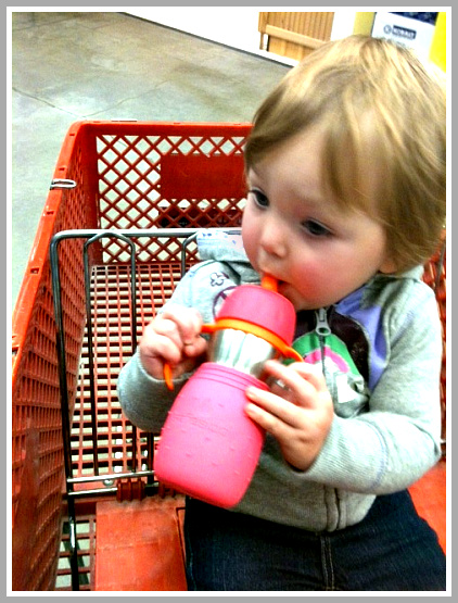 The Safe Sippy2 in use