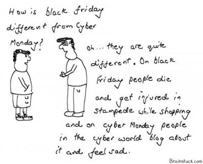 Cyber Monday Cartoon