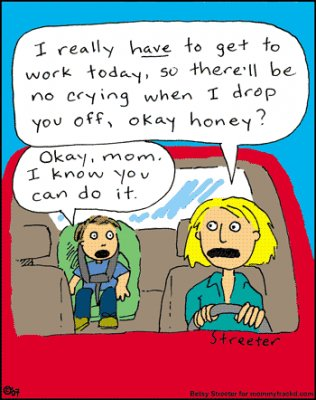 Funny cartoon about moms
