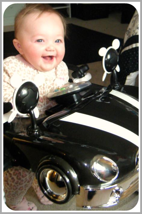 Baby in Bouncy Car