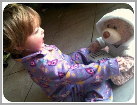 Abby and Cuddle Barn Storytime Teddy