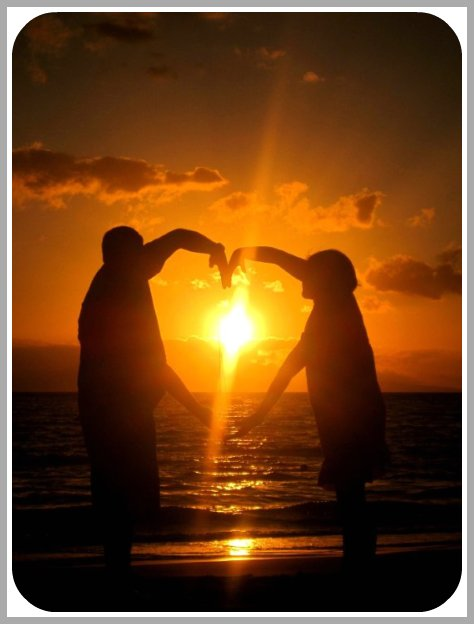 Love, Beach, Sunset