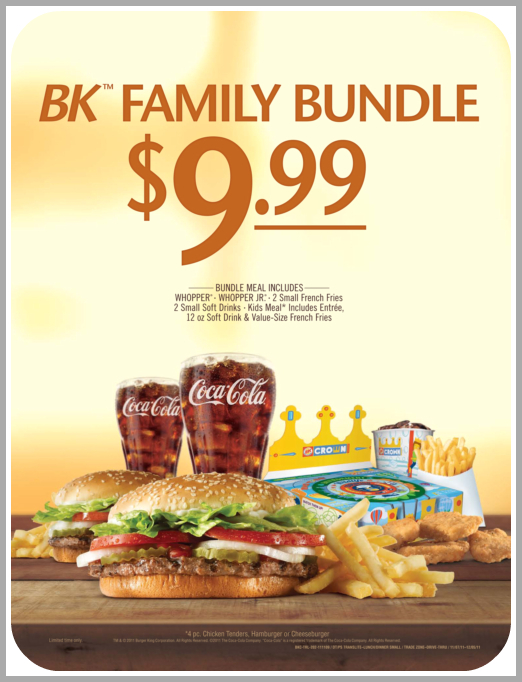 BK Family Value Meal