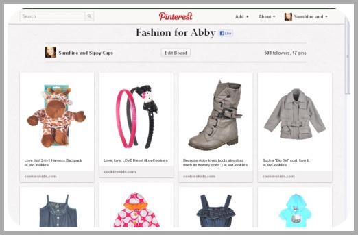 Pinterest Fashion for Kids Board