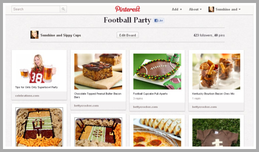 Pinterest, Football, Superbowl, Party, Foods