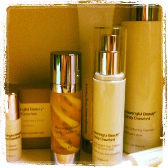 Beauty products, cindy crawford, meaningful beauty, skin care