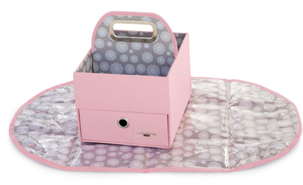 diaper caddy, diaper caddy and changing mat