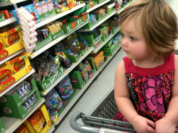Shopping with toddler, shopping at Walmart