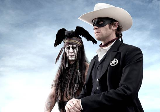 Lone Ranger with Johnny Depp