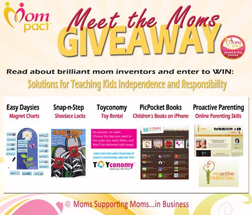 Mompact Giveaway, Mom Invented products, mom entrepreneurs