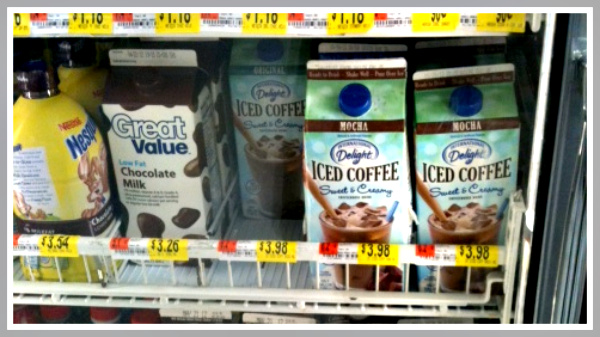 buying iced coffee in a carton
