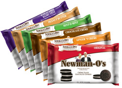 organic Newman-O's cookies