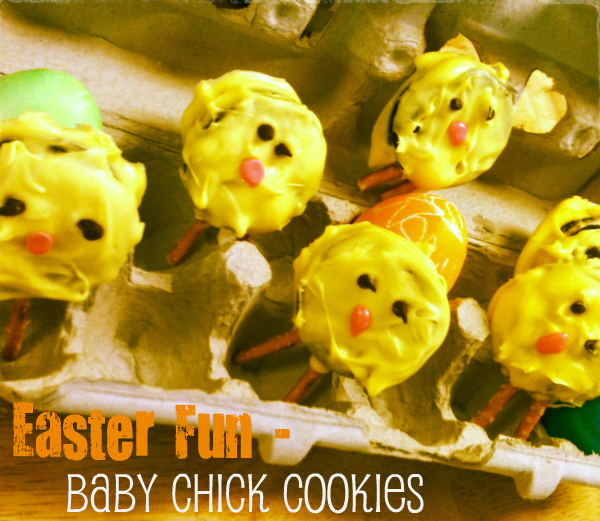 Easter baby chick cookies