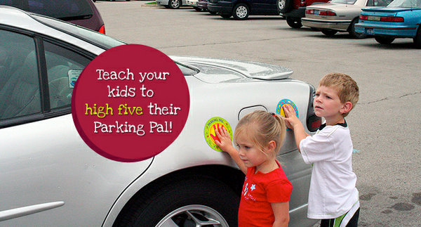Parking lot safety is easier with the parking pal magnet