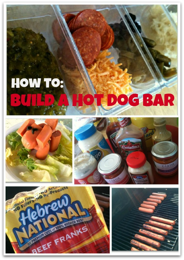 how to build a hot dog bar