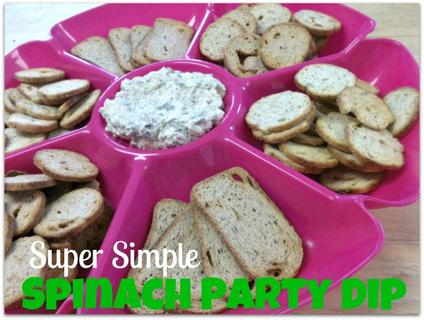 super simple spinach party dip
