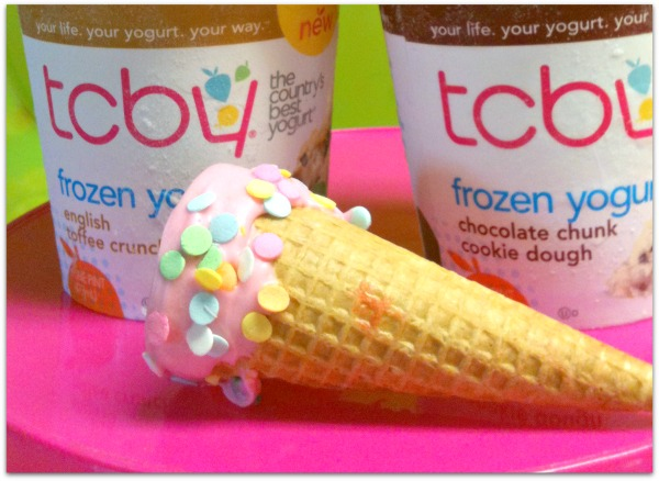 TCBY dipped cones