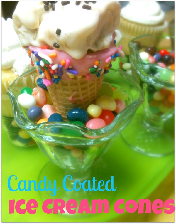 how to make candy coated cones