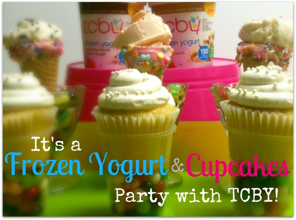 cupcakes and frozen yogurt party