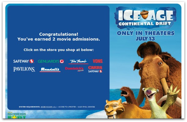 ice age dairy month free movie tickets