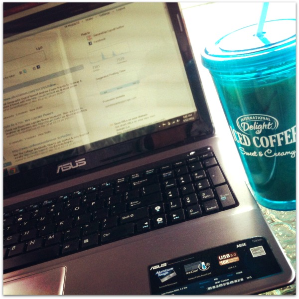 working with iced coffee
