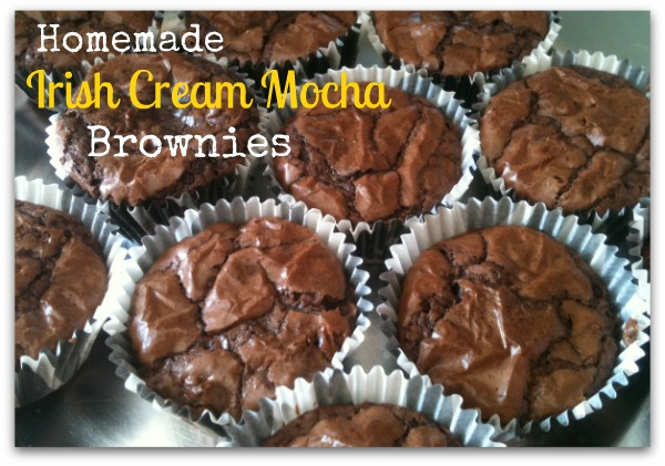 homemade Irish Cream Mocha Brownies
