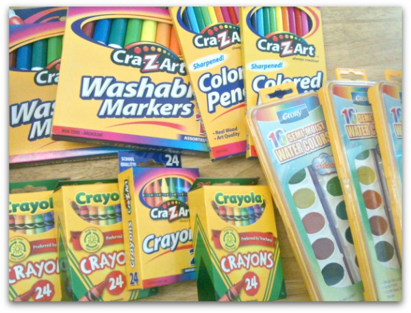 crayons and colors for school supplies