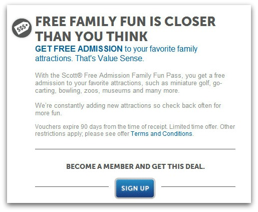 free family fun passes