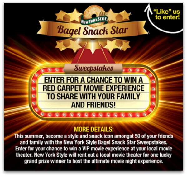 Bagel Snack Star Sweepstakes