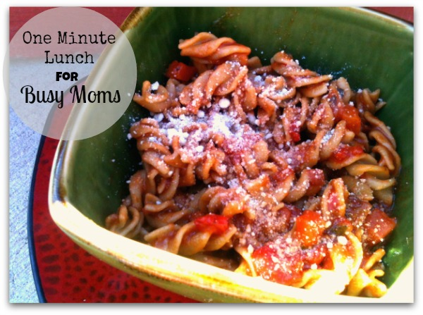one minute meal idea for busy moms