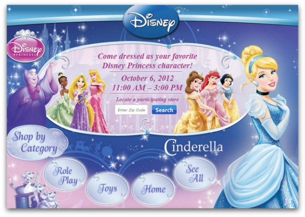 Cinderella Disney Princess event at Walmart