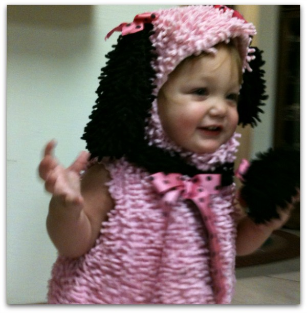 Toddler pink puppy Halloween costume