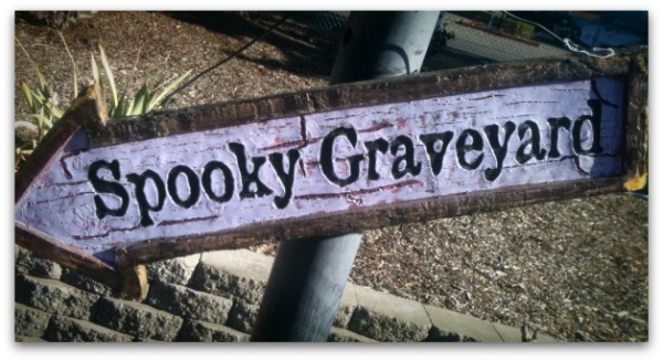 Spooky Graveyard sign for Halloween