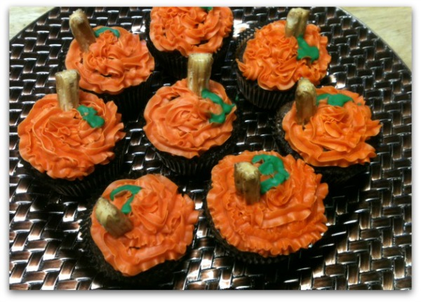 Pumpkin cupcakes for Cinderella party