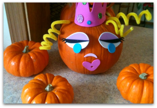 Princess pumpkin idea - perfect for a Cinderella party