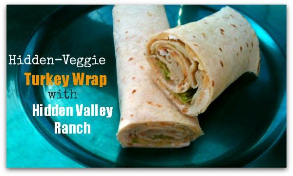 Hidden-Veggie Turkey Wrap with Hidden Valley Ranch