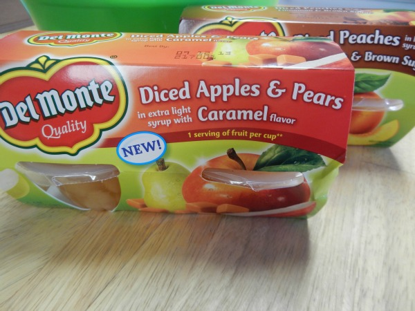 Del Monte Fruit Cups for fall