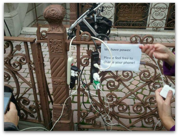Random act of kindness after hurricane Sandy