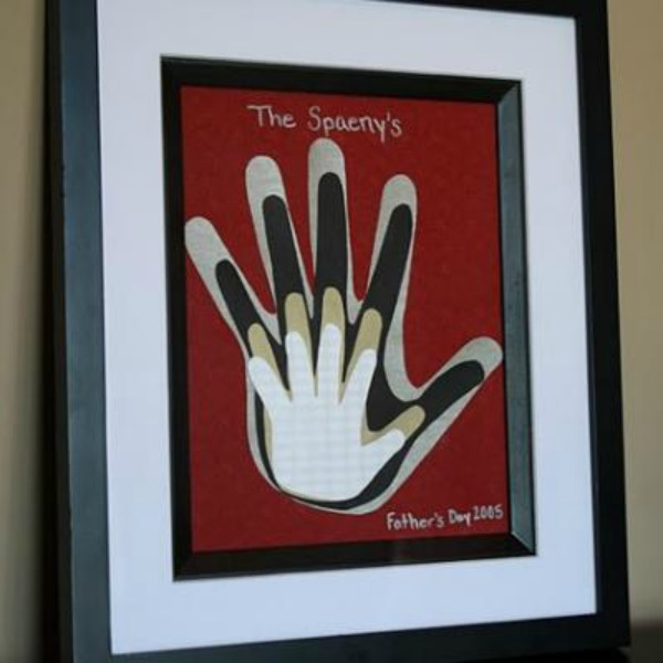 Framed Family Handprints Art
