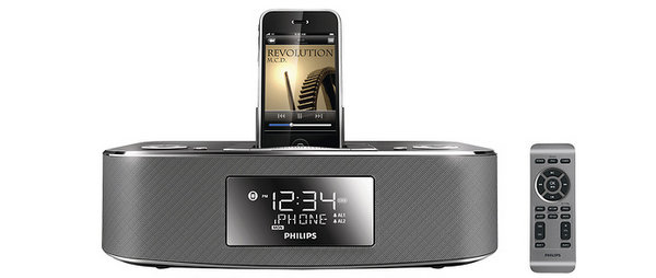 Philips - Alarm Clock Radio with Apple® iPod® and iPhone® Dock