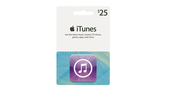 Apple iTunes gift cards for stocking stuffers