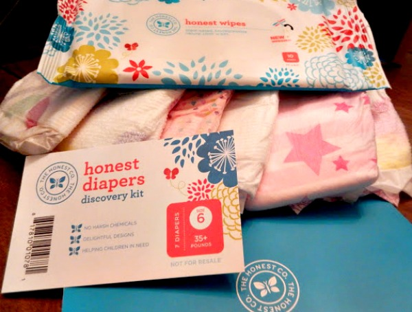 What you get in the free diapers bundle from Honest Co