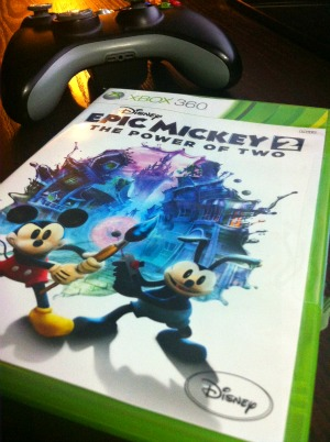 Epic Mickey game for family game nights!