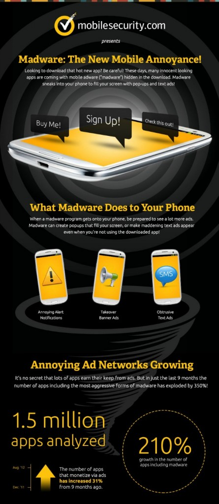 Stopping Madware on your phone - #infographic