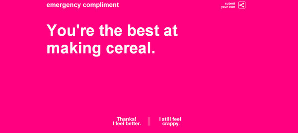 Funny compliments: Visit Emergency Compliment