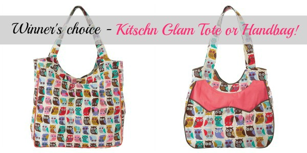 Kitschn Glam Owl tote bag and handbag