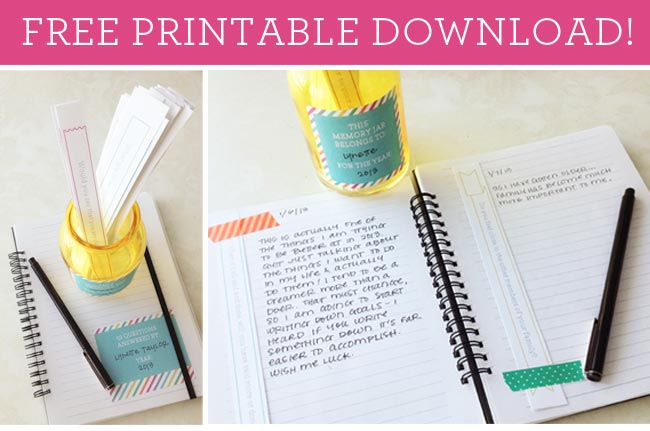 How to Create a Gratitude Journal with a Free Memory Jar Printable